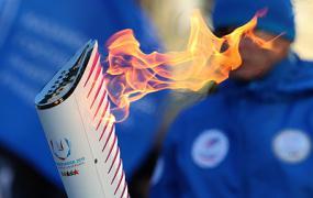 Факел Универсиады пронесли по столице Эвенкии в Красноярском крае