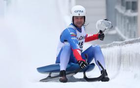 Саночник Павличенко занял третье место на чемпионате мира