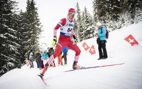 Российские команды заняли первые два места в эстафете на этапе КМ по лыжным гонкам