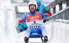 Российские саночники впервые завоевали золото в эстафете на ЧМ
