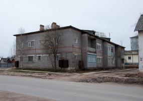 Улица Октябрьская. Плесецк, Архангельской области.