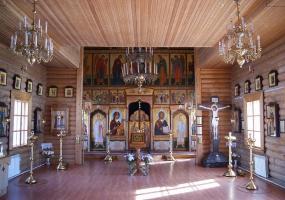 Иконостас, Храм Иоанна Богослова. Плесецк, Архангельской области.