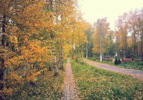 Осенний городской парк. Фото пейзажи - осень в Северодвинске.