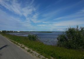 Вид с моста, Ягринское шоссе. Северодвинск, остров Ягры.