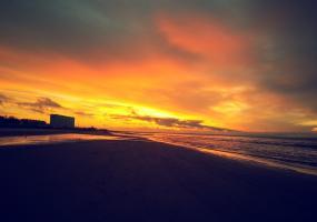 Закат. Северодвинск, остров Ягры.