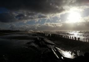 Последствия шторма. Северодвинск, остров Ягры.