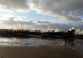 Ураган во всей красе. Северодвинск, остров Ягры.