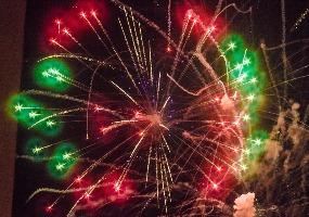 Разноцветный фейерверк. Новогодний салют в Северодвинске.