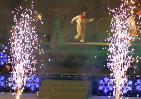 Ночной концерт и фейерверк. Новогодний салют в Северодвинске.