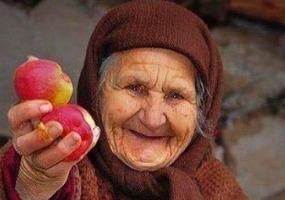 Милая бабушка. Старость.
