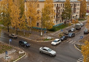 Улица Ленина. Фото города Мирный.