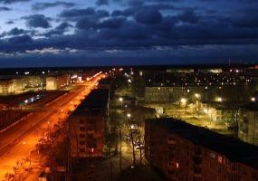 Вечерний город. Фото города Коряжма.
