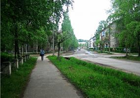 Улочки города. Фото города Коряжма.