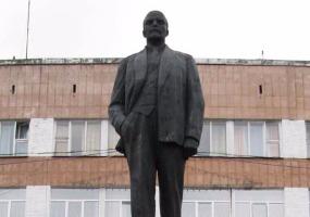 Памятник В. И. Ленину. Фото города Коряжма.