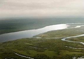 Вычегда с высоты птичьего полета. Фото города Коряжма.