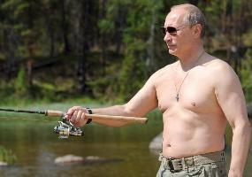 Рыбак. Владимир Путин.