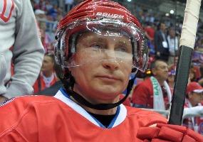 Хоккеист. Владимир Путин.