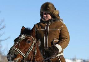 На коне. Владимир Путин.