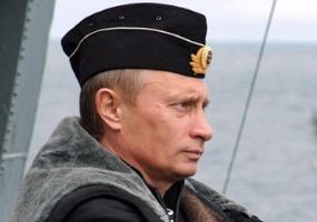 На крейсере «Петр Великий». Владимир Путин.