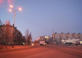 Вечерний город. Фото города Новодвинск.