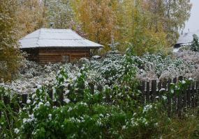 Первый снег. Фото города Новодвинск.