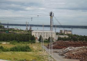 На территории ЦБК. Фото города Новодвинск.