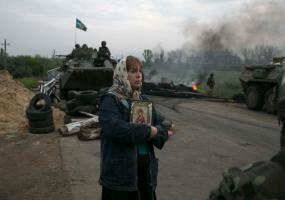 Славянск. Война в Донбассе. Донбасс в огне.