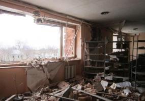 Донецк. Детская библиотека. Война в Донбассе. Донбасс в огне.