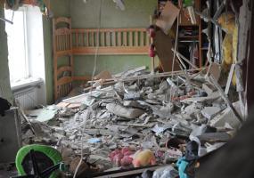 Горловка. Комната четырехлетней девочки и восьмилетнего мальчика. Дети погибли на месте. Война в Донбассе. Донбасс в огне.
